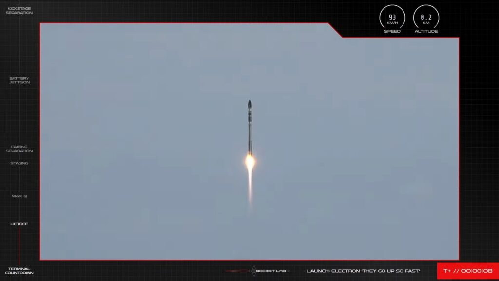 Rocket Lab launches Photon pathfinder on They Go Up So Fast