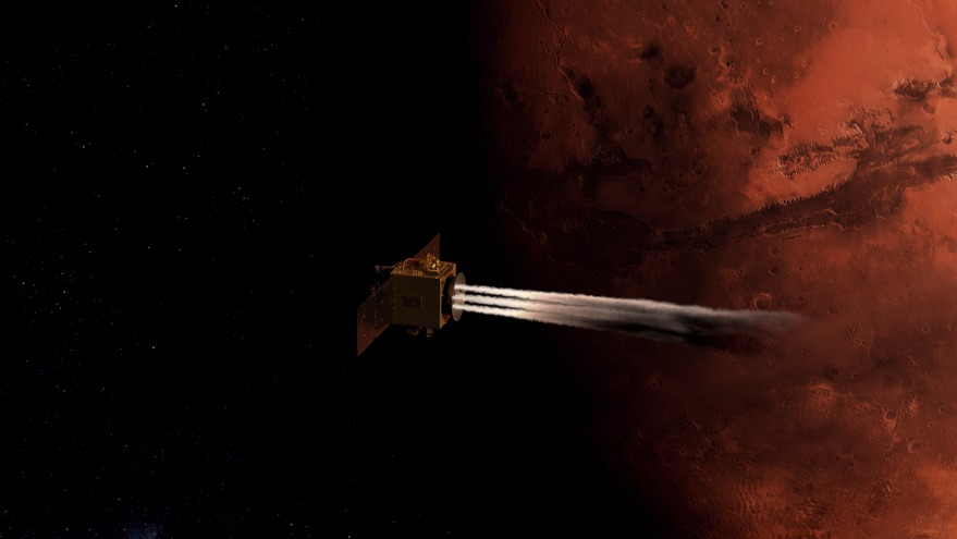 Hope enters orbit around Mars