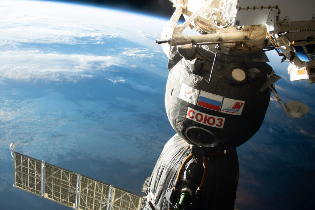 Soyuz crew relocates spacecraft to new space station parking spot